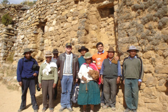 Inca Pacha' Isla del Sol : Outside Inca Pacha' Island of the Sun in Bolivia