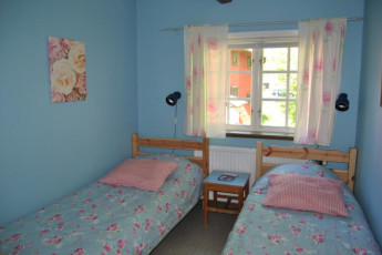 Långasjö : Langasjo hostel in sweden double room blue
