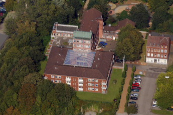 Kiel : Aerial view of building Kiel Hostel