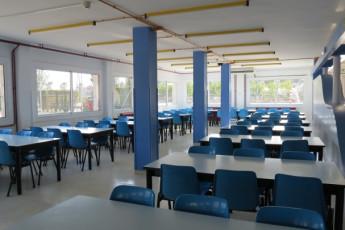 Deltebre - Mn. Antoni Batlle : Dining room in Mn Antoni Batlle hostel in Spain