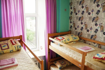 Kiev - ZigZag Hostel : Bunk beds in dorm room of Kiev - ZigZag Hostel in Ukraine