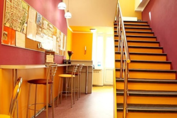 Kiev - ZigZag Hostel : Dining area in Kiev - ZigZag Hostel in Ukraine