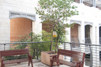 Beit Shean : Exterior Seating Area in Beit Shean Hostel, Israel