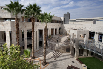 Beit Shean : View of Internal Courtyard at Beit Shean Hostel, Israel