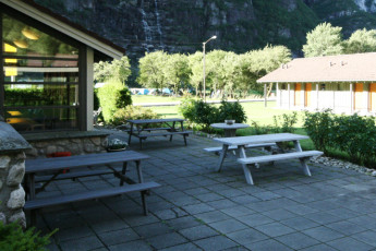 Lysefjorden : Patio Area in Lysefjorden Hostel, Norway