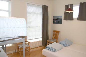 Akranes : Essbereich in Akranes Hostel, Island