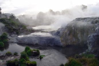YHA Rotorua : Scenic View of surrounding area around Rotorua YHA Hostel, New Zealand