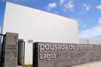 Azores - S.Miguel Is. - Lagoa : External view of entrance to the Azores Hostel in Lagoa - Sao Miguel Island in Portugal