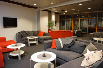 Åre Torg : Lounge area of the Are Torg hostel in Sweden
