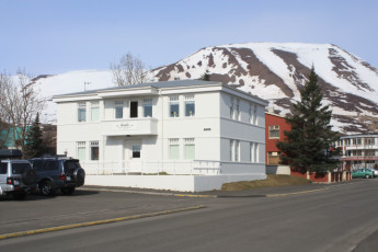 Dalvik : Front Exterior View of Dalvik Hostel, Iceland