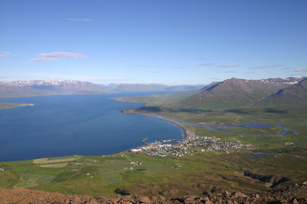 Dalvik : View of Surrounding Landscape from Hostel, Iceland