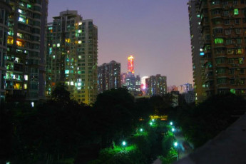 Guangzhou Catalpa Garden Youth Hostel : View from the rooftop of Guangzhou Catalpa Garden Youth Hostel in China