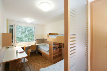 Youth Hostel DIC : View of dorm room from doorway at the Ljubljana - DIC Hostel in Slovenia