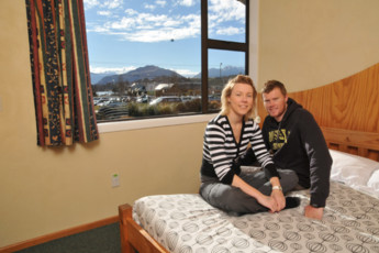 YHA Wanaka : Double Bedroom in Wanaka YHA - Purple Cow Hostel, New Zealand