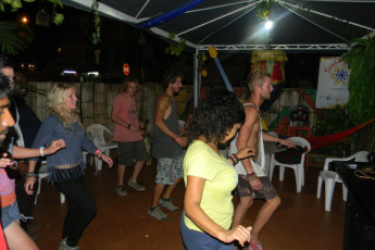 Cali - Sunflower Hostel : People Dancing at Cali - Sunflower Hostel, Colombia