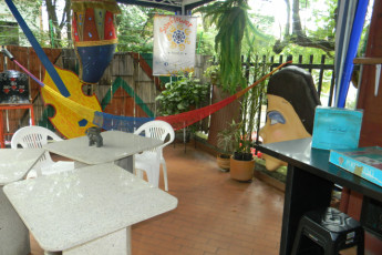 Cali - Sunflower Hostel : Patio Area in Cali - Sunflower Hostel, Colombia