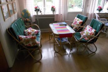 Hagaby/Lantgården : Socialising Area in Hagaby/Lantgarden Hostel, Sweden