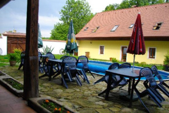 Jindrichuv Hradec - Pension u Tkadlen : Pool Area in Jindrichuv Hradec - Pension u Tkadlen Hostel, Czech Republic