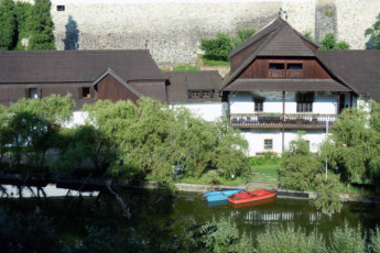 Jindrichuv Hradec - Pension u Tkadlen : View of River surrounding Jindrichuv Hradec - Pension u Tkadlen Hostel, Czech Republic