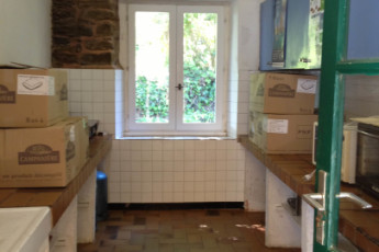 Auberge de jeunesse Hi Ile-de-Groix : Küche in der Ile-de-Groix Hostel in Frankreich