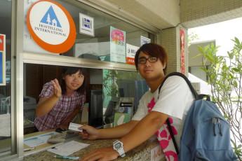 Hualien CYC International Youth Hostel : Guest at the reception of the Hualien CYC International Youth Hostel in Taiwan