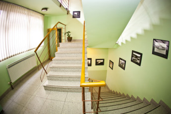 Samobor : Staircase in Samobor Hostel, Croatia