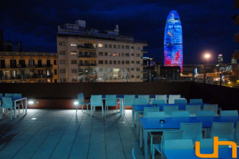 Barcelona - Barcelona Urbany Hostel : Terrace area of the Barcelona - Barcelona Urbany Hostel in Spain