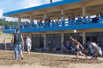 Jinshan Youth Activity Center : People Relaxing at the Local Beach surrounding Jinshan Youth Activity Center Hostel, Taiwan
