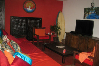 Pipa - Tibau do Sul - Pipa Hostel : Communal TV Lounge Area at Pipa - Tibau do Sul - Pipa Hostel