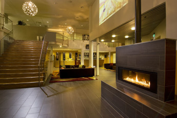 Kvinesdal : Lobby of Kvinesdal Hostel in Norway