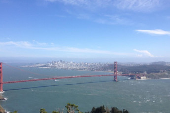 HI - Marin Headlands : Landscape view of Golden Gate Bridge near HI - Sausalito - Marin Headlands in USA