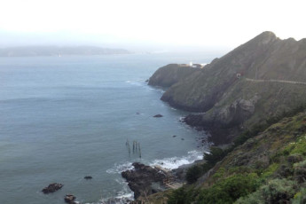 HI - Marin Headlands : Landscape view of hills near HI - Sausalito - Marin Headlands in USA