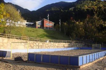Andorra la Vella - Alberg de la Comella : Football Recreation Area surrounding Andorra la Vella - Alberg de la Comella Hostel, Andorra
