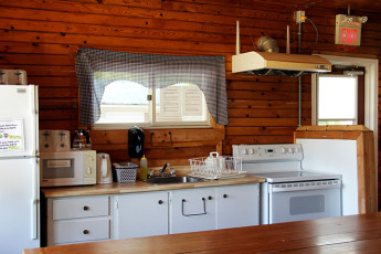 HI - Esprit : Kitchen in the HI-Esprit Hostel in Canada