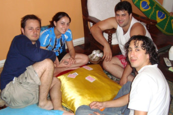 Rio De Janeiro – Cidade Maravilhosa Hostel : People Relaxing in the Communal Area of Cidade Maravilhosa Hostel - Rio, Brazil