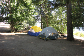 HI - Esprit : Camping area of the HI-Esprit Hostel in Canada