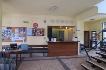 Lagos : Reception lobby of the Lagos hostel in Portugal