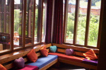Lanslebourg - Val Cenis : Communal lounge in the Lanslebourg/Val Cenis hostel in France