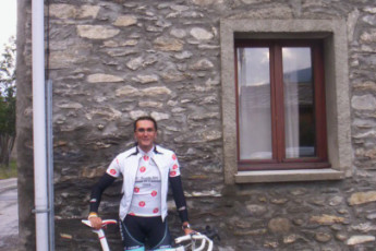 Lanslebourg - Val Cenis : Guest cycling at the Lanslebourg/Val Cenis hostel in France