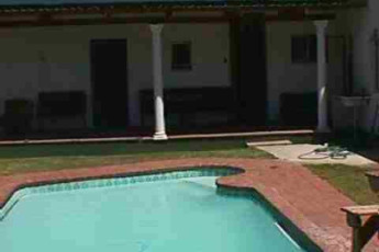 Stellenbosch - Stumble Inn : Pool Area in Stellenbosch - Stumble Inn Hostel, South Africa