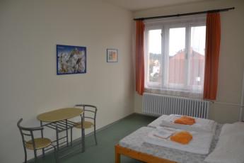 Tabor - Hostel Bernarda Bolzana : Twin Bedroom in Tabor - Hostel Bernarda Bolzana, Czech Republic
