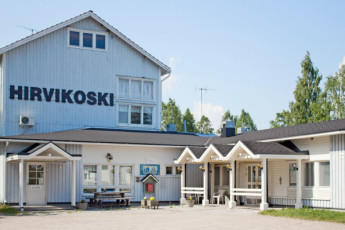 Sykäräinen - Hostel Hirvikoski : Exterior view of the Hirvikosken Kurssikeskus - Toholampi Hostel in Finland
