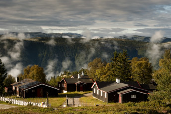 Høvringen : Landscape surrounding Hovringen Hostel, Norway