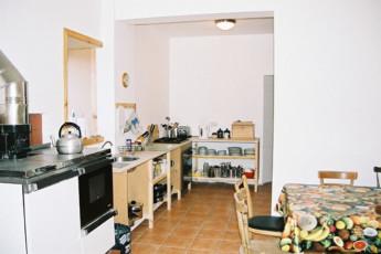 Carrbridge - Slochd Mhor Lodge : Kitchen at the Carrbridge - Slochd Mhor Lodge Hostel in Scotland
