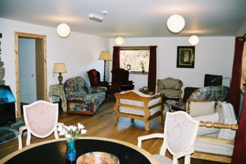 Carrbridge - Slochd Mhor Lodge : Living room in the Carrbridge - Slochd Mhor Lodge Hostel in Scotland