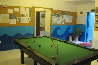 Haikou - Banana International YH : Pool Table at Haikou - Banana International Youth Hostel, China