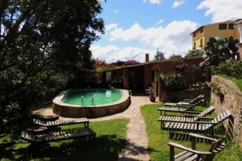 Samaipata - HI Landhaus : Pool Area in Samaipata - HI Landhaus Hostel, Bolivia