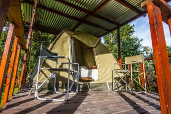Tsitsikamma - Tsitsikamma Backpackers : A Tent at Tsitsikamma - Tsitsikamma Backpackers Hostel, South Africa