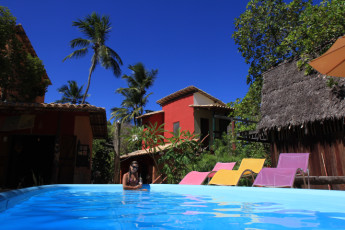Imbassaí - Eco Hostel Lujimba : Pool Area in Imbassai - Eco Hostel Lujimba