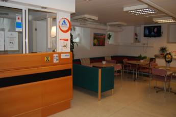 Halmstad/Kaptenshamn : Reception Area in Halmstad / Kaptenshamn Hostel, Sweden
